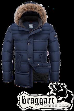 Мужская синяя зимняя куртка-парка Braggart (р.46-54) арт. 3148 синий, фото 2