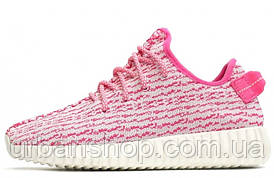 Женские кроссовки Аdidas Yeezy Boost 350 Pink\White, розовые, адидас изи буст