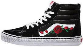 Женские кеды Vans SK-8 Roses Black
