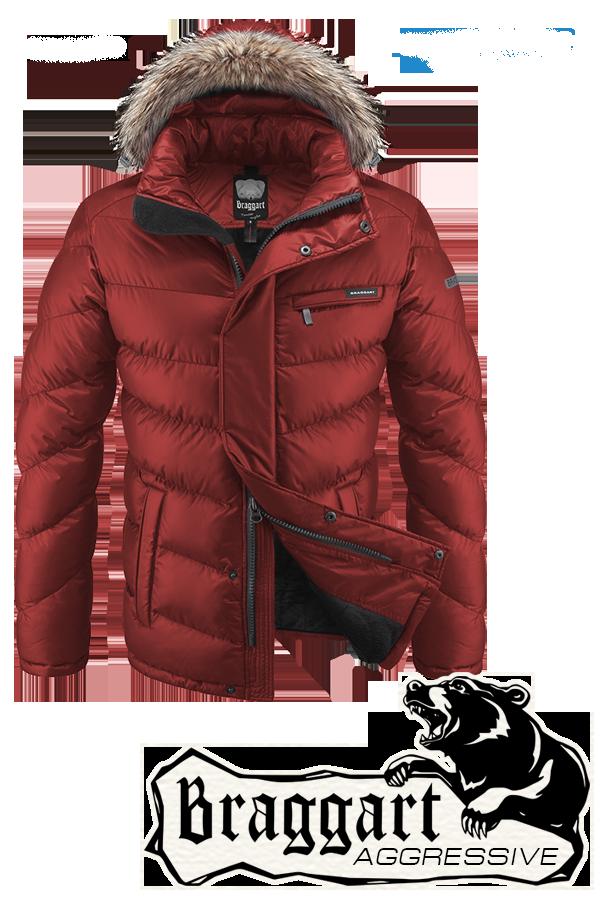 Мужская оранжевая зимняя куртка Braggart (р. 46-56) арт. 4219