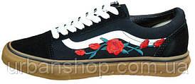 ЧоловічіКеди Vans Old School Roses Black/White/Brown