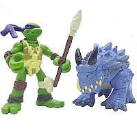 Набор мини-фигурок Донателло и Стего - Donatello and Stego Mini Mutants, 4Kids, 7СМ, Playmates
