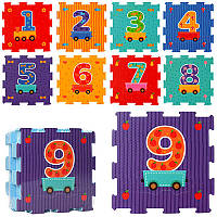 Коврик мозаика цифры 2614 (вагончик с цифрами): 9 деталей