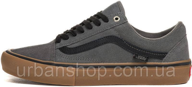 Мужские кеды Vans Old Skool Pro Grey/Black/Gum