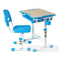 Детская парта-трансформер со стульчиком FunDesk Piccolino, голубая, фото 1