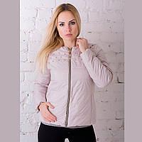 Женская демисезонная куртка Irvik ZK20-141 бежевая
