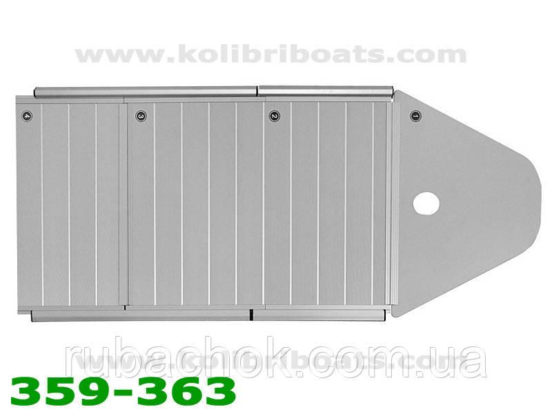 Пайол алюминиевый с стрингерами КМ-360D (настил, стрингера, сумка)