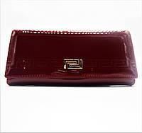 Женский лаковый кошелек из искусственной кожи красного цвета RVX-087636, фото 1