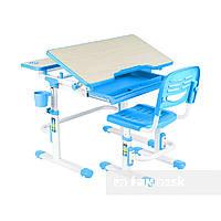 Растущая парта и стул для школьника, детская парта Fundesk Lavoro, голубая, фото 1