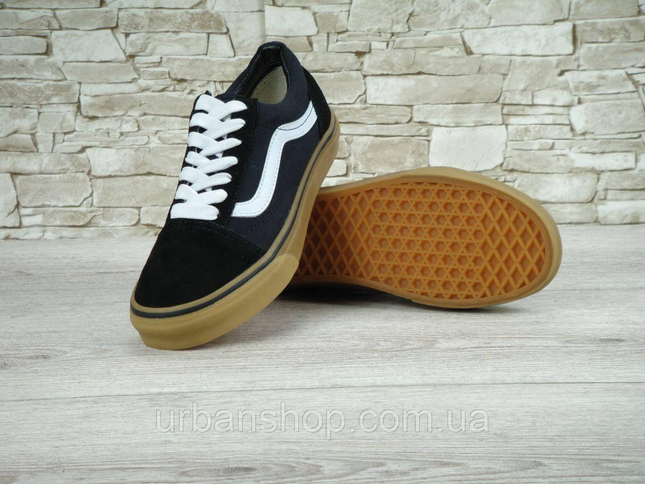 Купить Мужские кеды Vans Old Skool Black White Gum db5e410c11334