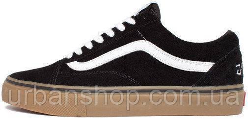 Женские кеды Vans Old Skool Black White Gum, женские  кеды, ванс