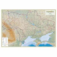 Карта Украины рельефная