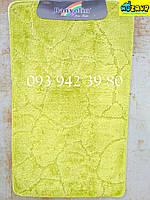 Набор ковриков для ванной и туалета 100*60, 50*60 (салатовый)