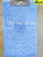 Набор ковриков для ванной и туалета 100*60, 50*60 (голубой)