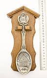 Коллекционная оловянная ложка 1995 год, олово, деревянный подвес, Германия, фото 3