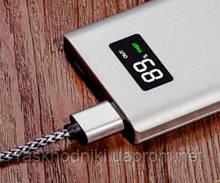 Power Bank 10000mAh Aspor Q388 Metal orig 100% (LCD, 2USB) silver