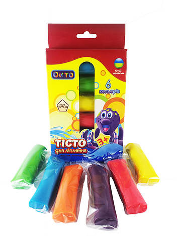 Набор для лепки ОКТО Ассорти 6 цветов 41001