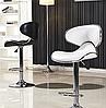Стілець для візажиста, барний стілець, стілець для адміністратора (САЛЛІ білий), фото 7