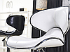 Стілець для візажиста, барний стілець, стілець для адміністратора (САЛЛІ білий), фото 6