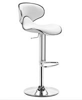 Стул для визажиста, барный стул, стул для администратора (САЛЛИ белый)