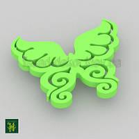Бабочка зеленая фигурная / 30 см