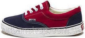 Женские кеды Vans ERA Black/Red, женские кеды, ванс