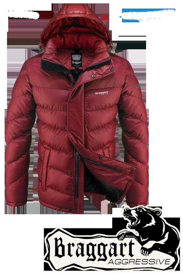Мужская красная зимняя куртка арт. 2682