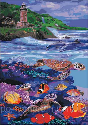 картина раскраска водный мир Kh4031 35 х 50 см