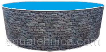 Бассейн каркасный морозоустойчивый круглый Azuro Stone 3,5 х 1,2 м