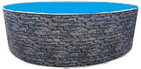 Бассейн каркасный морозоустойчивый круглый Azuro Stone 3,6 м х 1,2 м (13 м3), фото 1