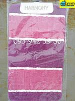 Набор ковриков для ванной и туалета 100*60, 50*60 (розово-малиновый)