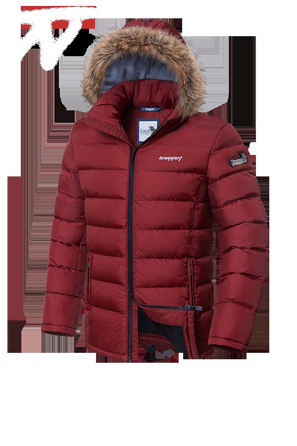 Мужская красная зимняя куртка Braggart Aggressive (р. 46-56) арт. 4495