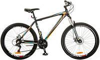 Велосипед горный MTB кросс-кантри Optima Gravity DD рама-19 черный/оранжевый OPS-OP-27.5-005