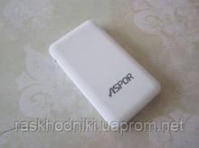 Power Bank 9000mAh Aspor A322 orig 100% Soft touch (2USB, фонарик) white