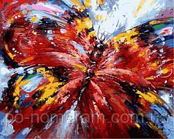 Раскраска по номерам Алая бабочка (VP884) 40 х 50 см