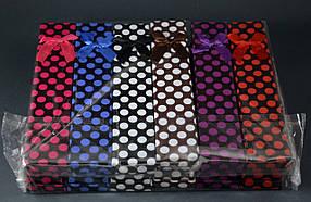 Подарункова упаковка Горошок 21х4х2,5 см
