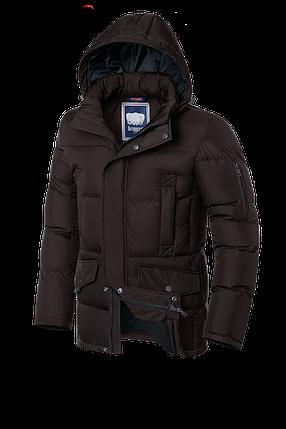 Мужская коричневая зимняя куртка на меху (р. 46-56) арт. 2160, фото 2