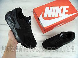 Зимові чоловічі кросівки Nike Air Huarache All Black Winter Editionнахутрі.