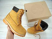 Зимние ботинки Timberland, мужские\женские ботинки с натуральным мехом