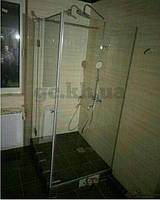 Душевая перегородка угловая (крепление двери на стекло)