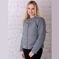 Женская демисезонная куртка Irvik ZK20-135 оливковая, фото 1