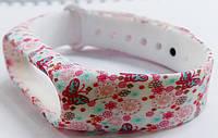 Ремешок Xiaomi для браслета Xiaomi Mi Band 2, розовые цветочки