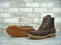 Зимние ботинки Timberland Brown, женские ботинки с натуральным мехом