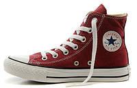 Женские кеды Converse All Star High бордовые, конверс