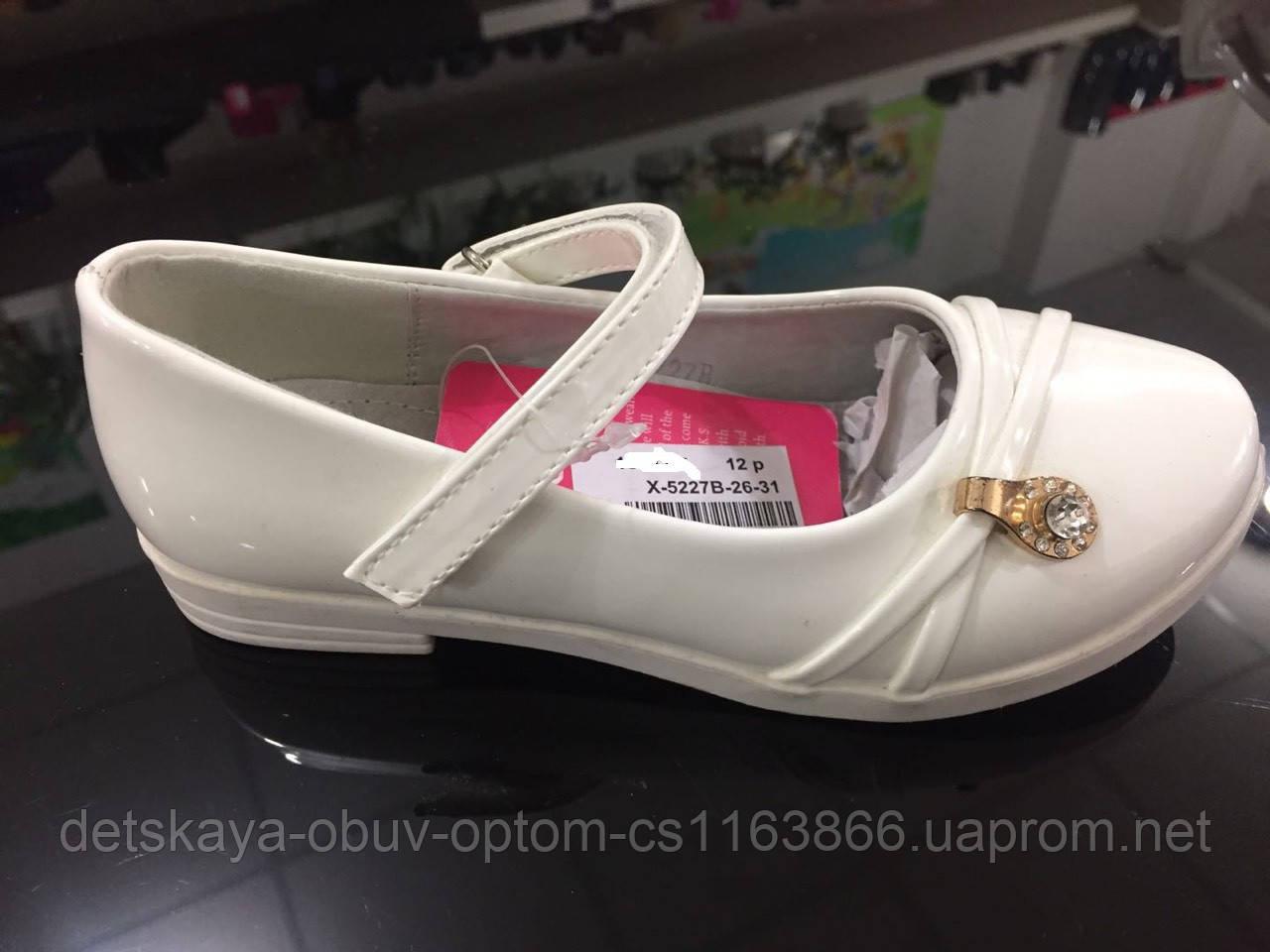 c042c72f21e1 Детские белые лаковые туфли для девочек оптом Размеры 26-31  продажа ...