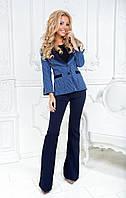 Женский красивый брючный костюм: пиджак и брюки (3 цвета)