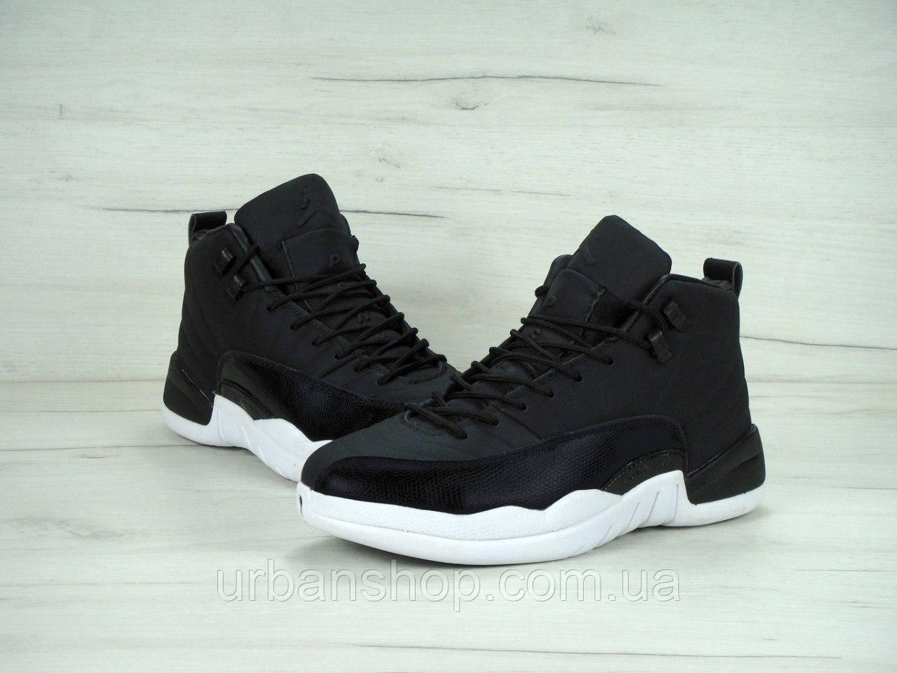 ... Мужские баскетбольные кроссовки Nike Air Jordan 12 XII Retro Black Nylon 7b278a807c958