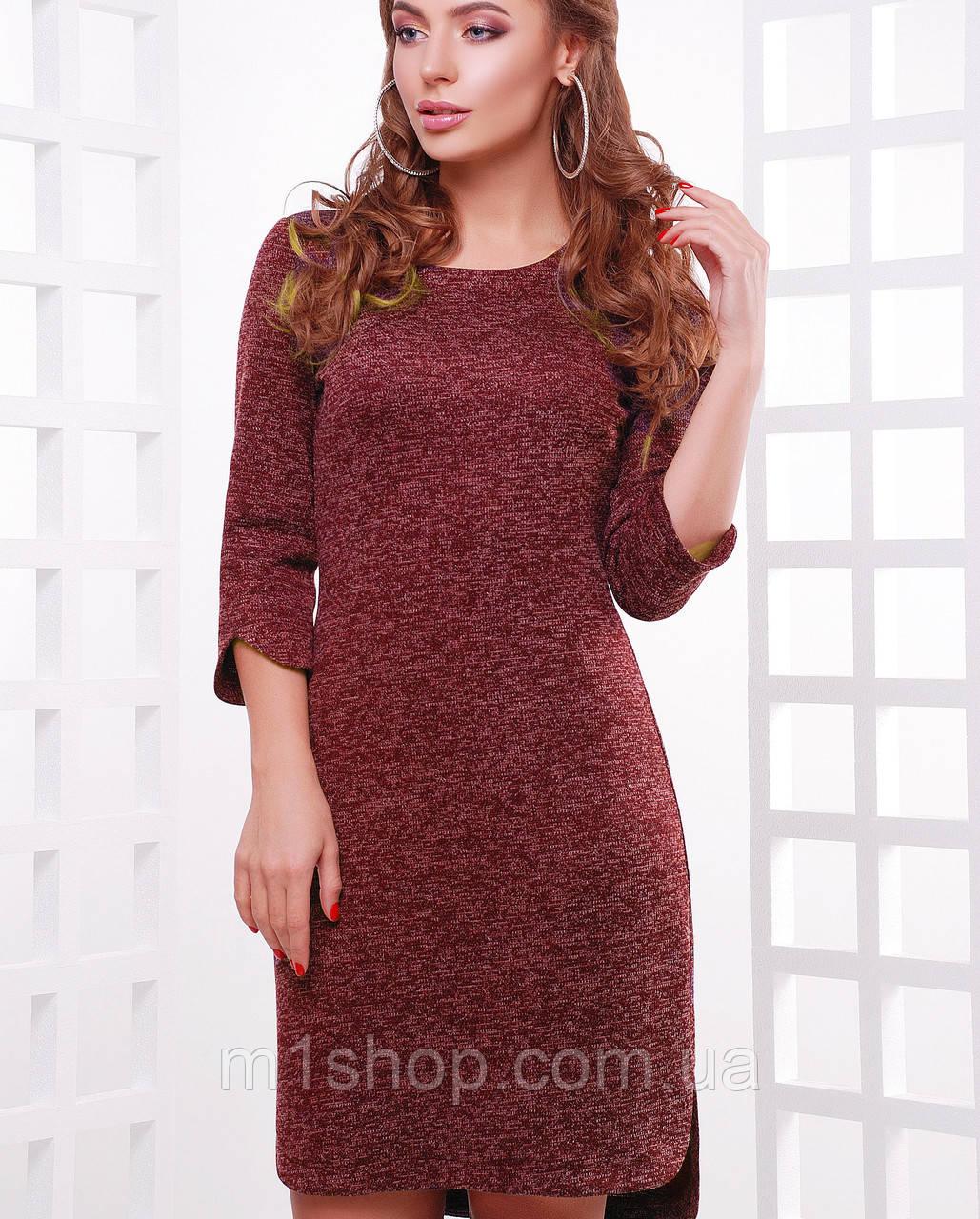 Ангоровое асимметричное платье (1760 mrs)