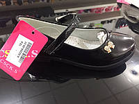 Детские лаковые чёрные туфли для девочек оптом Размеры 26-31