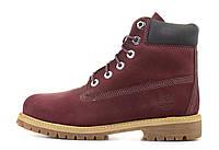 Зимние ботинкиTimberland Bordo, мужские ботинки с натуральным мехом